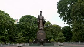 Statue of King Le Thai To in Hanoi, Capital of Vietnam stock video footage
