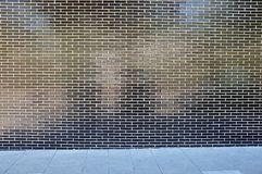Black brick wall Stock Image