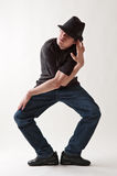 Shot of stylish dancer in hat Royalty Free Stock Photo
