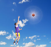 Shot in the sun Royalty Free Stock Photo