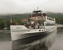 A Shot of the Swan Cruise Boat on Lake Windermere Stock Images