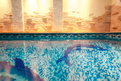 Shot of swimming pool in spa center Royalty Free Stock Photography