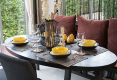 A shot of table settings Stock Photography