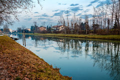 Autumn Landscape. Shot taken in the countryside around Padova, Italy Royalty Free Stock Images
