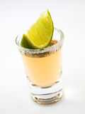 Shot of tequila and lime Royalty Free Stock Images