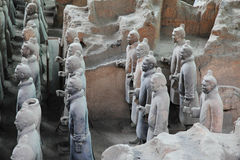 Terracotta Warriors 4. Shot at Terracotta Warrior Museum in Xian, China.(Detail Royalty Free Stock Images