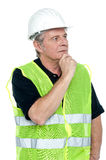 Shot of a thoughtful project engineer Royalty Free Stock Photos
