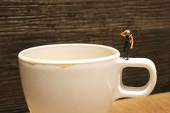 Shot of a tiny Deep Diver wait at mug Stock Images