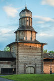 Shot of Tomsk wooden Kremlin in summer day. Russia Royalty Free Stock Images