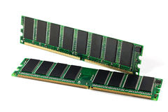 A shot of two DDR RAM sticks Royalty Free Stock Image