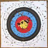 Shot-up Target Stock Image