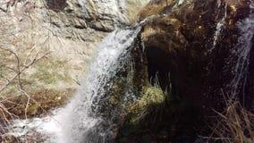 Upper Battle Creek Falls. A shot of Upper Battle Creek Falls near Pleasant Grove, Utah stock video