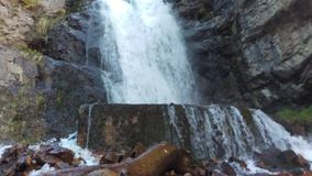 Upper Falls. A shot of Upper Falls in Provo Canyon, Utah stock video