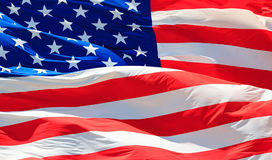 Shot of the USA flag. Closeup shot of the USA flag stock images