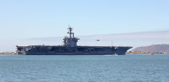 A Shot of the USS Carl Vinson (CVN-70) Royalty Free Stock Images