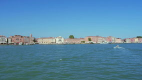 Shot of Venice from a ship stock footage