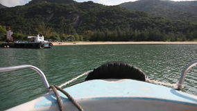 Shot of vietnamese islands from boat stock video