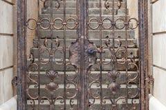Vintage metal doors Stock Image