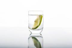 Shot of vodka with lemon Royalty Free Stock Photo