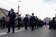 Romanian National Day military parade policeman Royalty Free Stock Photography