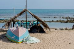 Morning rituals of fishermen royalty free stock image