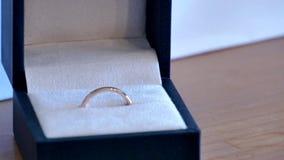 Shot of wedding or engagement ring. Closeup shot of wedding or engagement ring stock video