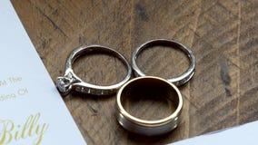 Shot of wedding or engagement rings. Closeup shot of wedding or engagement rings stock video