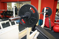 Shot of a weight training equipment. Stock Image