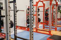 Shot of weights and barbells Royalty Free Stock Images