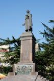 纪念碑致力了著名英王乔治一世至三世时期诗人Shota Rustaveli在第比利斯 免版税库存图片