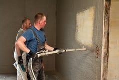 Shotcrete εργαζόμενοι Στοκ εικόνες με δικαίωμα ελεύθερης χρήσης