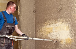 Shotcrete worker Stock Images