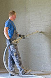 Shotcrete worker Royalty Free Stock Photography