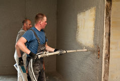 Shotcrete workers Royalty Free Stock Images