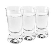 Shotglasses of vodka Stock Photography