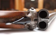 Shotgun. On a photo old shotgun Royalty Free Stock Photography