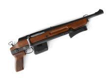Shotgun. With folding stock isolated on white Stock Images