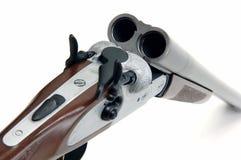 Shotgun. Mechanism isolated at white Stock Image