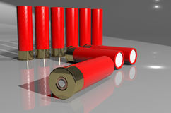 Shotgun cartridge Stock Photography