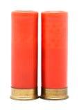 Shotgun Cartridges. Red shotgun cartridges isolated on white background Stock Image
