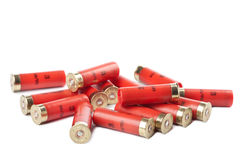 Shotgun cartridges isolated. Over white Royalty Free Stock Photography