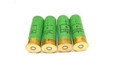 Shotgun cartridges on white background Stock Images