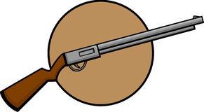 Shotgun firearm weapon. Illustration of a shotgun firearm weapon Royalty Free Stock Photos
