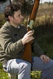 Shotgun man Stock Images