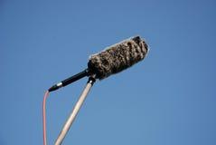 Shotgun Microphone and Wind Protector Stock Photo