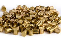 Shotgun primers on white background Stock Image