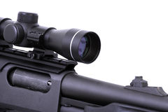 Shotgun with a rifle scope Royalty Free Stock Images