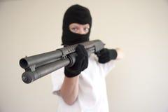Shotgun robber Stock Photos