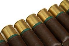 Shotgun Shell Bandoleer. A macro image of a shotgun shell bandoleer Royalty Free Stock Image