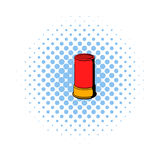 Shotgun shell icon, comics style Stock Photos
